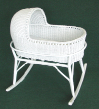 wicker bassinet that rocks
